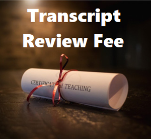 Picture of Transcript Review Fee